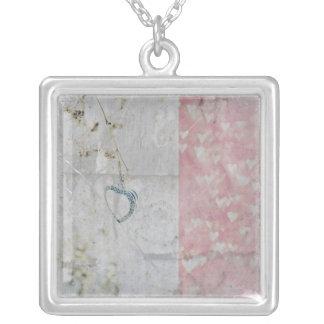 Faded Love Square Pendant Necklace