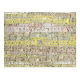 Faded Measuring Tape Background Postcard