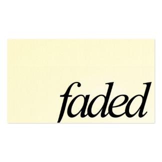 Faded Minimal Logo Business Card