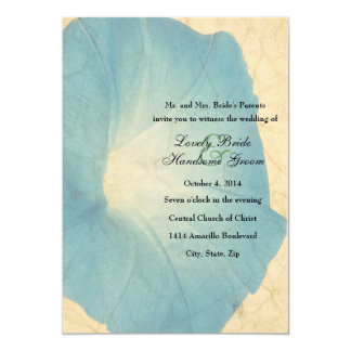 Faded Morning Glory Parchment Wedding Invitation