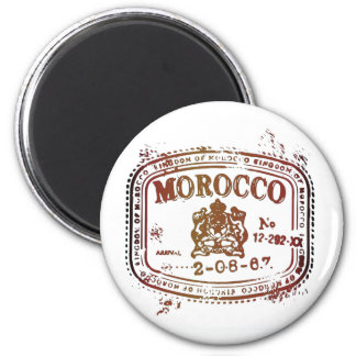 Faded Morocco Stamp 2 Inch Round Magnet