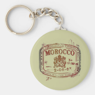 Faded Morocco Stamp Keychain