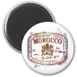 Faded Morocco Stamp Refrigerator Magnets