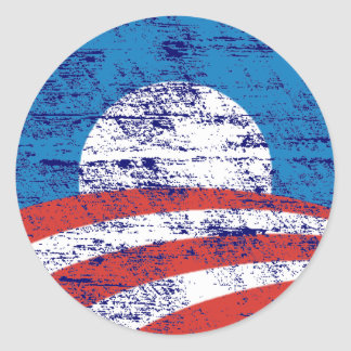 Faded Obama Logo Classic Round Sticker