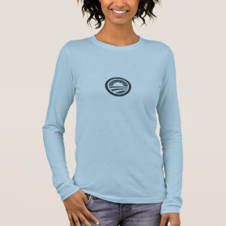 Faded Obama logo Long Sleeve T-Shirt