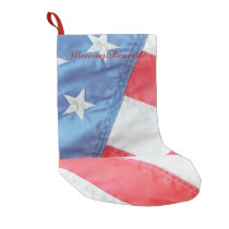 Faded Old Glory Small Christmas Stocking