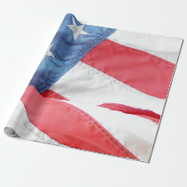 Faded Old Glory Wrapping Paper