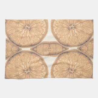 Faded orange slices kitchen towel