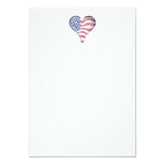Faded Painting USA Flag 5x7 Paper Invitation Card