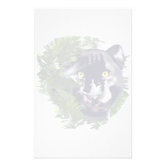 Faded Panther in Foliage Stationery Design