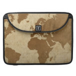 Faded Parchment World Map Sleeve For MacBooks