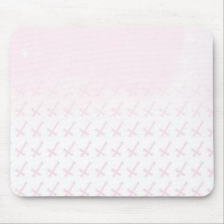 Faded Pink Cross Mousepad