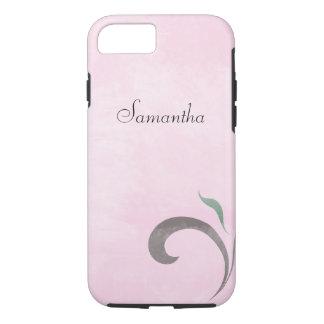 Faded Pink Flourish iPhone 7 case Tough Case