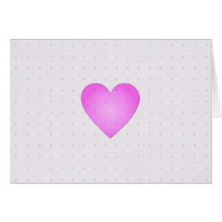 Faded Pink Heart on White Vintage Pattern Greeting Card