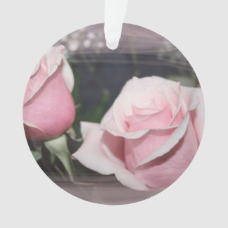 Faded pink rose image sketchy overlay