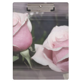 Faded pink rose image sketchy overlay clipboards