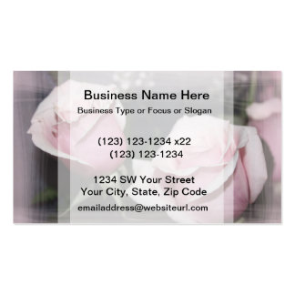 Faded pink rose image sketchy overlay Double-Sided standard business cards (Pack of 100)
