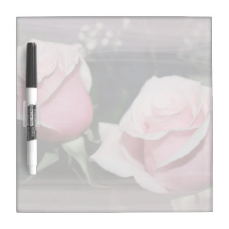 Faded pink rose image sketchy overlay dry erase whiteboards