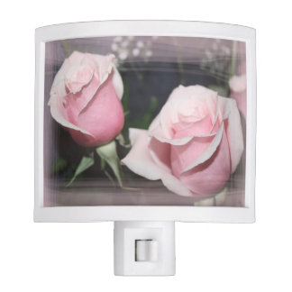 Faded pink rose image sketchy overlay night lite