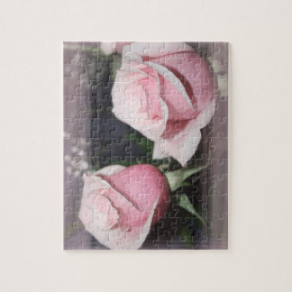 Faded pink rose image sketchy overlay puzzles