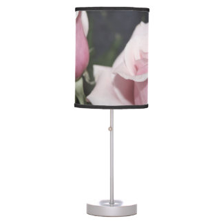 Faded pink rose image sketchy overlay table lamp