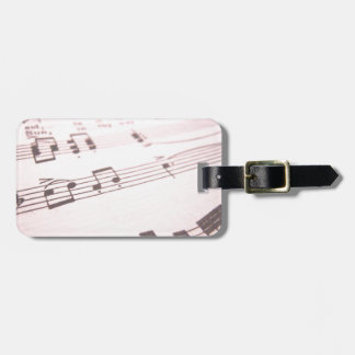 Faded Pink Sheet Music Travel Bag Tags