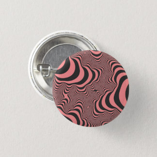 Faded Pink Zebra Stripes Small Round Button