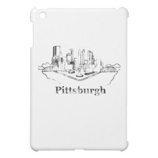 Faded Pittsburgh City Skyline Logo iPad Mini Cases