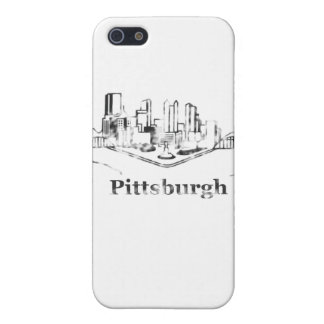 Faded Pittsburgh City Skyline Logo iPhone 5 Cover
