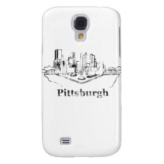 Faded Pittsburgh City Skyline Logo Samsung Galaxy S4 Case