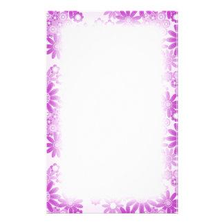 Faded Purple Daisy Petals Stationery