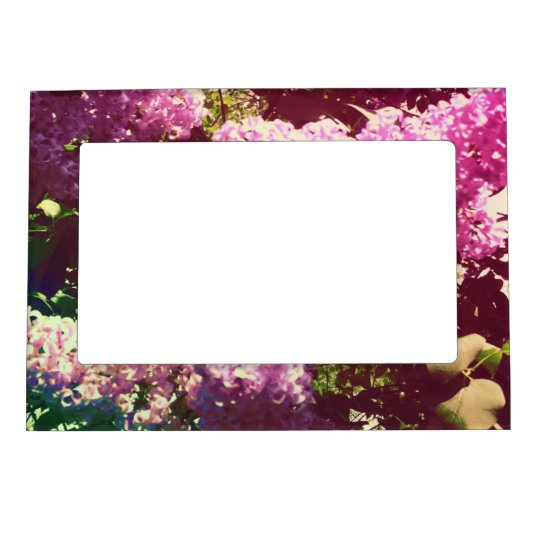 Faded Rainbow Lilacs Magnetic Photo Frame