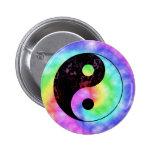 Faded Rainbow Yin Yang Button