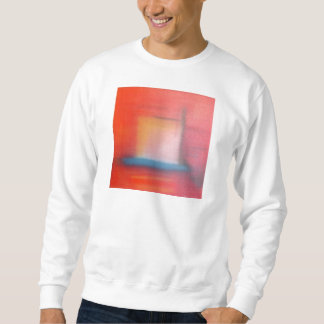 Faded Red Abstract Oil Painting Sweatshirt