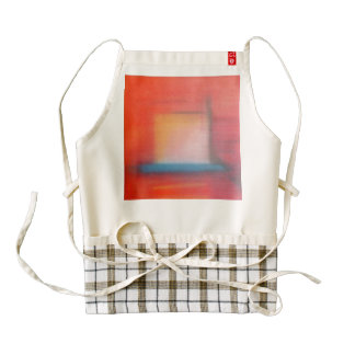 Faded Red Abstract Oil Painting Zazzle HEART Apron