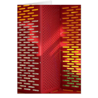 Faded Red and yellow steel staircase abstract Greeting Card