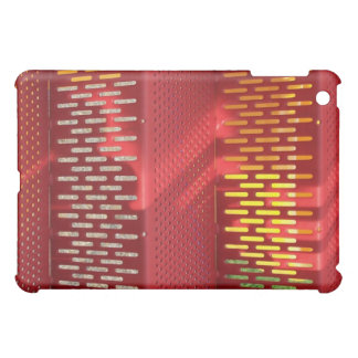 Faded Red and yellow steel staircase abstract iPad Mini Cover
