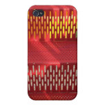 Faded Red and yellow steel staircase abstract Covers For iPhone 4