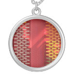 Faded Red and yellow steel staircase abstract Custom Necklace
