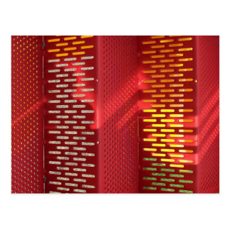 Faded Red and yellow steel staircase abstract Postcards