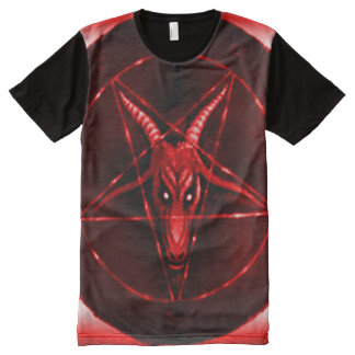 Faded Red Baphomet Symbol Airbrush Art All-Over-Print Shirt