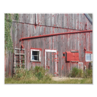 Faded Red Barn Photo Print