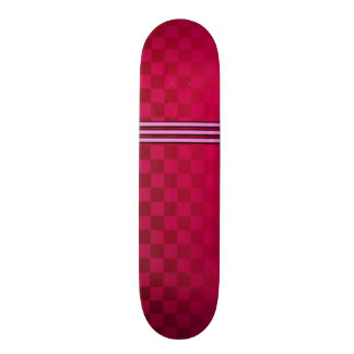 Faded Red Checkered Skateboard