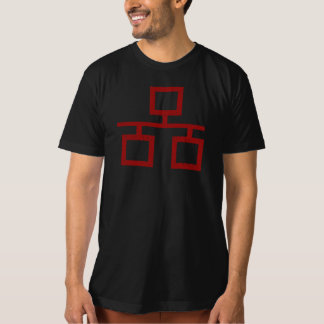 Faded Red Ethernet Hacker Connection Grunge Symbol T-Shirt
