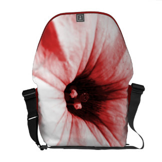 Faded red flower macro picture commuter bags