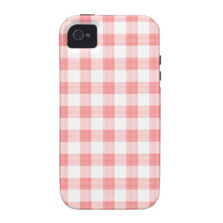 Faded Red Gingham iPhone 4 Case