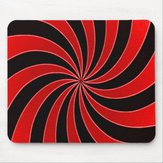 Faded Red Mind Warp Stripes Pattern Mouse Pad