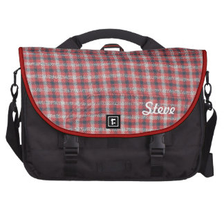 Faded Red Plaid Bag For Laptop