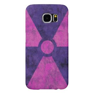 Faded Red Radiation Symbol Samsung Galaxy S6 Case