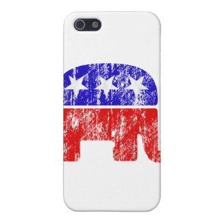 Faded Republican Elephant Cover For iPhone SE/5/5s